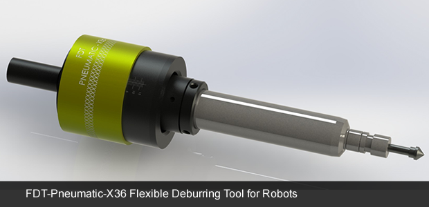 Flexible deburring tool for robots - robotic deburring tool